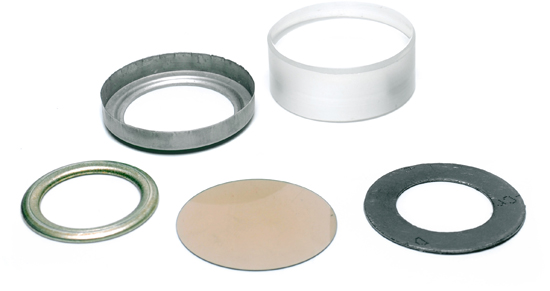 Mica-Gasket-Glass Assembly for YARWAY Color-Port Water Level Gage